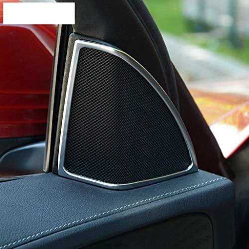 ABS Chrome en Plastique De Voiture Porte Audio Haut-Parleur Couverture Garniture Argent pour Classe C W205 C180 C200 C260 2015 2016 2017