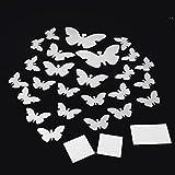 Sharplace 25-teilig/Set Schmetterlinge Form Spiegel Wandaufkleber Aufkleber Wandtattoo, Dekoration für Schlafzimmer Wohnzimmer Kinderzimmer usw.
