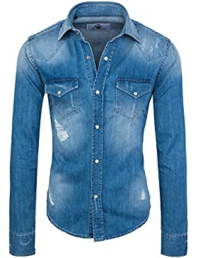 Rock Creek -  Camicia Casual  - con bottoni - Classico  - Uomo