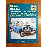 Opel Corsa, manuel d'entretien et de réparation auto