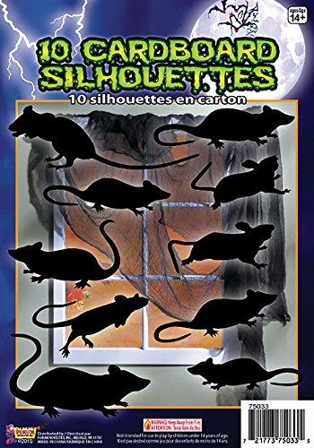 Kleid Ratte (Forum Novelties x75033Ratten Shadow Silhouette Party Dekoration, Schwarz, One size)