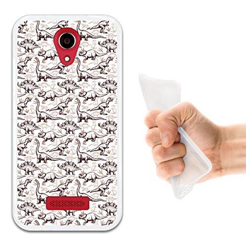 WoowCase Doogee X3 Hülle, Handyhülle Silikon für [ Doogee X3 ] Dinosaurier Handytasche Handy Cover Case Schutzhülle Flexible TPU - Transparent