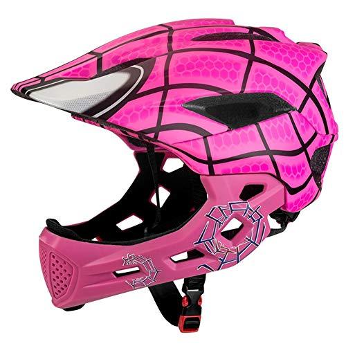 happygirr Kinder Motorradhelm Persönlichkeit Kinder Vollgesichtsschutzhelm Für Jungen Mädchen Reiten Skating Motorrad Unisex Helm für Kinder