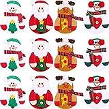 12 Pezzi Natale Porta Posate Porta Argenteria Coltelli Tasche Forchette Borse per Natale Festa Decorazione, 4 Stili