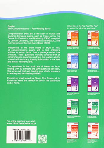 11+ Essentials English: Mini-Comprehensions Fact-Finding Book 1 (First Past the Post)