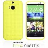 OnlineBestDigital - Colorful Hard Back Case for HTC One M8 - Jaune