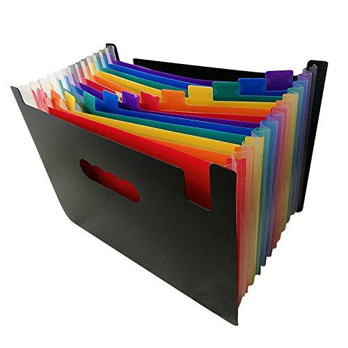Datei-erweiterung Ordner (Dateiordner Organizer,Beetest 12 Taschen große Kapazität Akkordeon Expanding Datei Ordner Veranstalter Tasche A4 Größe)