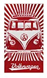 VW Collection by BRISA VW T1 Bus Strandtuch - Rot
