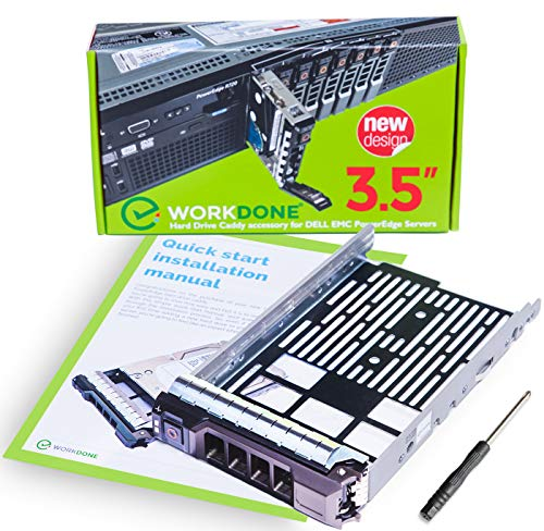 WorkDone 3,5-Zoll Hard Drive Caddy Tray - Festplattenrahmen für 11-13. Generation Dell PowerEdge Server - Hot-Swap Träger SAS SATA HDD Adapterrahmen Gehäuseträger - Sata 3,5 Hot-plug