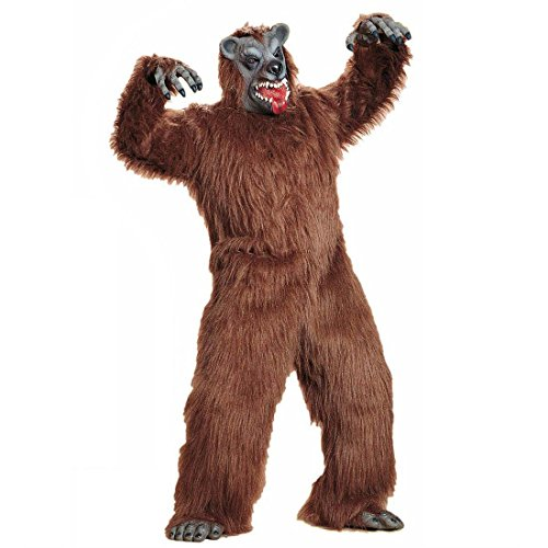 NET TOYS Brauner Bär Kostüm Bärenkostüm Bären Plüschkostüm Braunbär Verkleidung Monster Ganzkörperkostüm Plüsch (Bären Füße Kostüm)