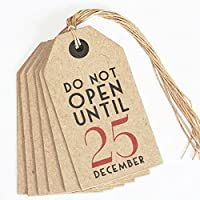 East of India Do Not Open Until 25 December Christmas Vintage Tags x6 by East of India preisvergleich bei billige-tabletten.eu