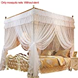 4 Corners Post Princess Bed Canopy mosquitera, blanco