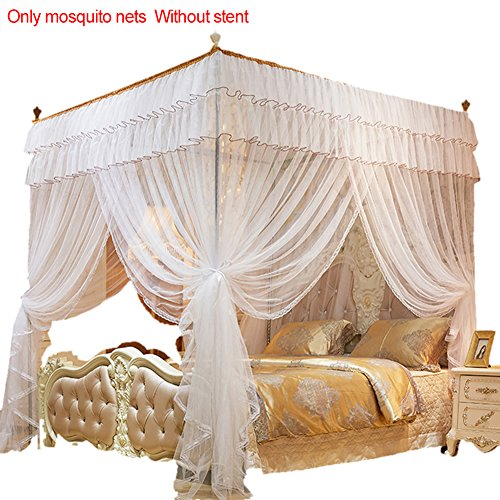 Cheerfulus 4 Corners Post Princess Bed Canopy mosquitera
