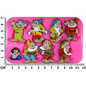 Blanche Neige et les sept nains Moule en silicone Moule pour décoration gâteau glaçage pour gâteau Sugarcraft outil de fées Blessings