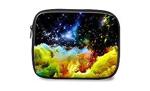 WHCREAT Cool Galaxy Print Zipper Polyester Housse pour ordinateur portable Housse pour housse Housse IPAD