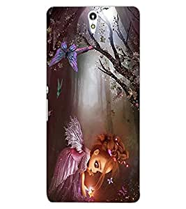 ColourCraft Cute Baby Angel Design Back Case Cover for SONY XPERIA C5 ULTRA DUAL