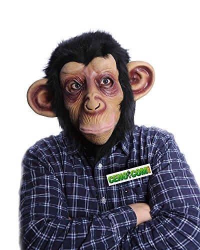 Affen Maske Affenmaske Tiermaske Schimpansen Maske mit Plüschfell