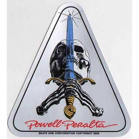 Powell Peralta pegatina - Cráneo y espada - reedición de la vieja escuela oficial
