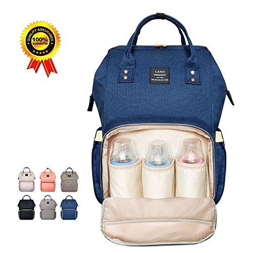 Preisvergleich Produktbild HEYI Baby Wickeltasche Reise RucksackIsolierte Tasche, Wasserdicht Stoffe, Multifunktional, Passform für Kinderwage, Große Kapazität Modern Einzigartig Tragbar Handtasche Organizer (Navy-blau)