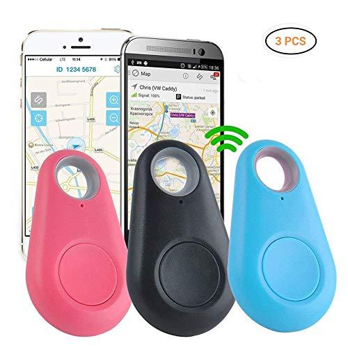 Schlüsselfinder, Mini GPS Tracker Bluetooth 4.0 Auto Anti Lost Device GPS Tracker Pet Car überwachung Fahrrad Mini Locator Schlüsselanhänger Schlüsselsucher für Brieftasche Auto Kind Haustiere (3pcs)