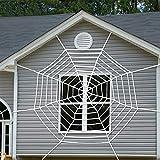 Dollger Halloween Deko Spinnennetz 3.6 m Halloween Netz Spinne für Halloween Party (Spinnennetz)