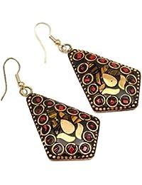 Pitara For You Tibetan Earrings Dangle & Drop Hook Earrings For Women And Girls