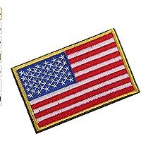 Sungpunet Parche Bordado con la Bandera Estadounidense, 1 Unidad, 8 x 5 cm