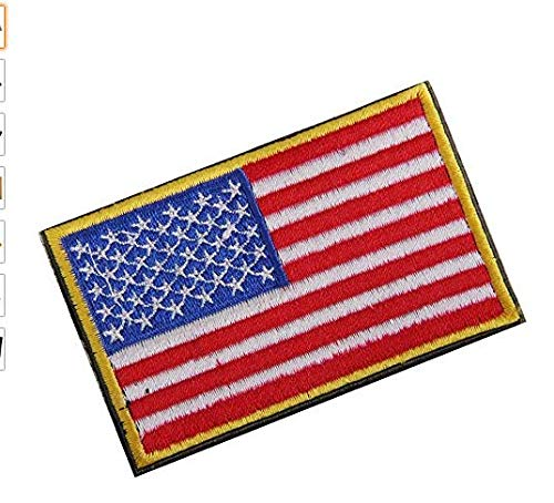 Sungpunet Parche Bordado Bandera Estadounidense, 1