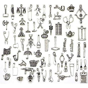 65 Key Tibetan Silver Charms Pendants Jewelry Making Findings