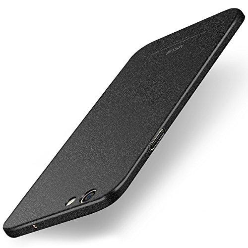"""Tapfond (TM) All Sides Protection """"360 Degree"""" Sleek Quicksand Matte Hard Back Case Cover For OPPO F1S - Sandstone Black"""