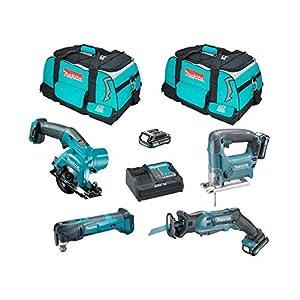 MAKITA Kit MMT4WD3 (JR103 + TM30 + HS301 + JV101 + 3 x 2,0 Ah + DC10SA + 2 x Werkzeugtasche)