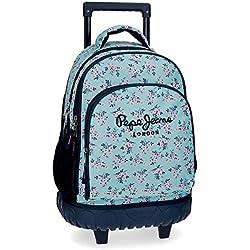 Pepe Jeans Denise Mochila escolar, 28.9 litros, 43 cm, Azul
