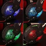 Gaming Headset PS4, marsboy Gaming Kopfhörer mit Mikrofon LED Effekt für PS4 PC Film Gaming Spielen Chat Musik Blau. - 6