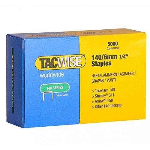 Tacwise 0340Agrafes 140/6mm 5000Pistolet pour Z1–140, Z1–140L, Z3–140, Z3–140L, A11, A54, 140EL, a14014V