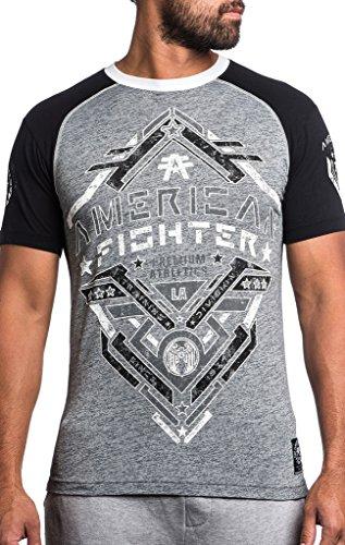 American Fighter by Affliction T-Shirt Bates Grau/Schwarz Grau