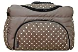 TP-46 Wickeltasche Shopper Reisetasche PIA von Baby-Joy XXXL Übergröße Beige Punkte Windeltasche Pflegetasche Babytasche Tragetasche