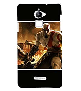 Takkloo warrior anemy,man with muscular body, hot man, fire, man with weapon) Printed Designer Back Case Cover for Coolpad Note 3 Lite :: Coolpad Note 3 Lite Dual SIM