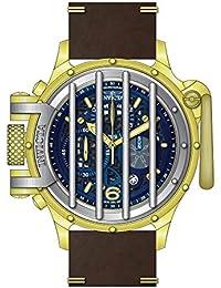 Invicta Vintage Reloj de Hombre Cuarzo Suizo Correa de Cuero dial marrón  28136 f2a99141a52c