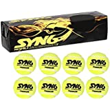 SYN6 Premium Heavy Cricket Tennis Ball (Pack Of 8 Balls)