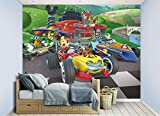 Walltastic 45293 Affiche Murale Disney Mickey and The Roadster Racers, Papier, Multicolore, 52,5 x 7 x 18,5 cm