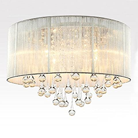 Crystal Ceiling Lighting Continental Modern Sliver Lamp Shade Droplets Shape (Not Include The Light Source ) 5 Lamp Holders by Aiwen