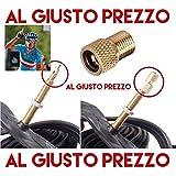 1 Adattatore Universale per Valvole - Da PRESTA a SCHRADER specifico per Bici da Corsa e Mountain Bike - Gonfia con il compressore o la Pompa a pedale - Made in Italy - AlGiustoPrezzo ® ™
