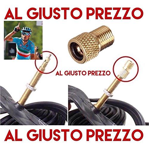 1 Adattatore Universale per Valvole - Da PRESTA a SCHRADER specifico per Bici da Corsa e Mountain Bike - Gonfia con il compressore o la Pompa a pedale - Made in Italy - AlGiustoPrezzo  TM