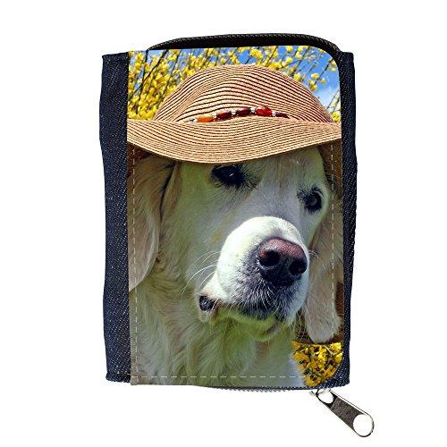 Portemonnaie Geldbörse Brieftasche // V00003514 Labrador Strand-Hut trägt // Purse Wallet (Labrador-geldbörse)