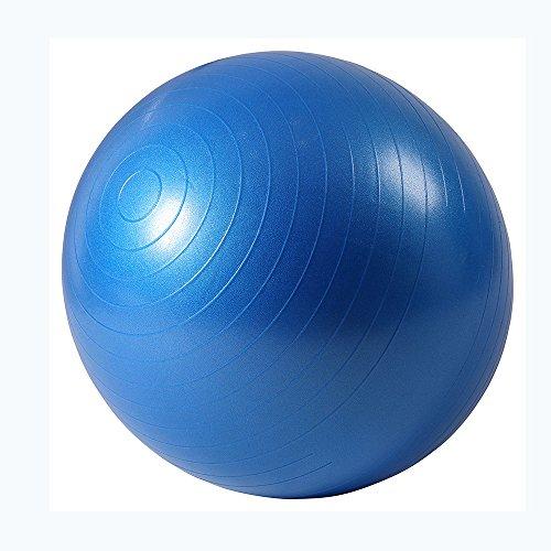 ISE pelota de ejercicio suiza de anti-explosión y antideslizante profesional con bomba, bola de yoga equilibrio, pelota de gimnasia en casa y gimnasio para quemar grasa abdominal, azul 45cm
