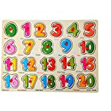 SuperToy(TM) Wooden Number Puzzle with knobs