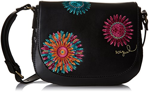 Desigual Womens Varsovia Far West Cross-Body Bag Negro