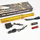 Luz de seguridad Xagoo Lumen 1800 Bate de béisbol del CREE Q5 LED 18650 Forma de la linterna de 3 modos linterna defensiva (Set de Oro) (Estilo 1)