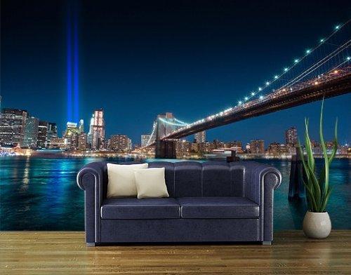 Papiertapete - Fototapete No.91 'WTC MEMORIAL LIGHTS' 400x280cm New York USA , Größe:280cm x 400cm