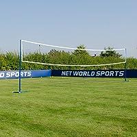 Vermont Postes de Voleibol/Bádminton de Acero – Postes Multideportivos Autónomos o Fijos (Redes Opcionales) (Postes Autónomos, con Redes)